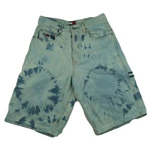 Vintage 90s Acid Wash Tommy Hilfiger Denim Shorts
